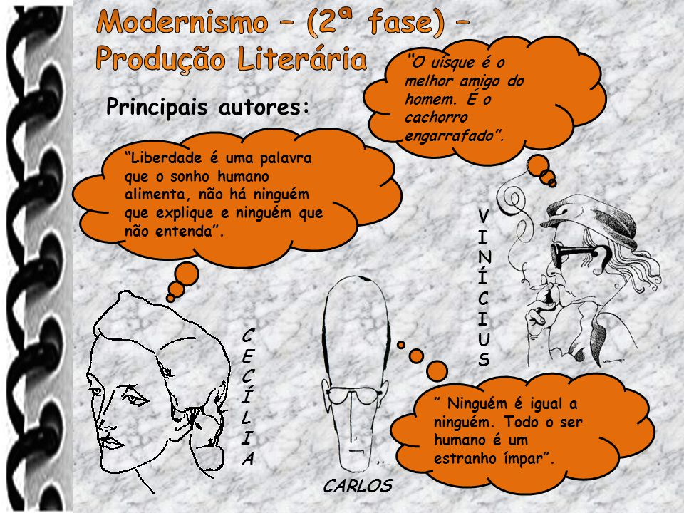 Modernismo – (2ª fase) – Produção Literária Principais autores: