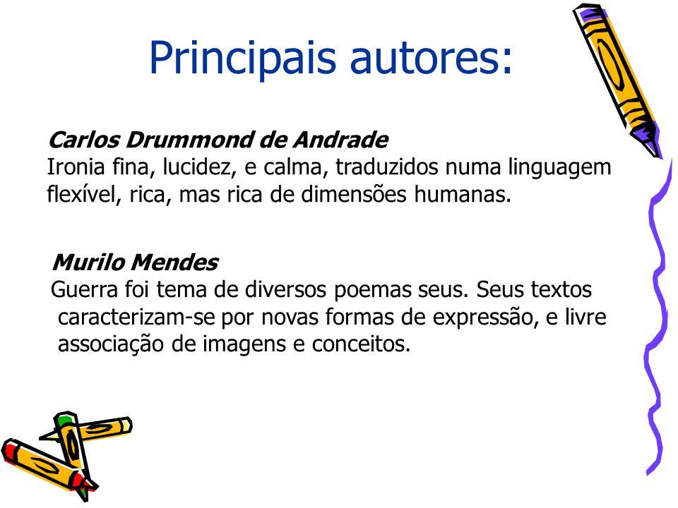 Principais autores: Carlos Drummond de Andrade