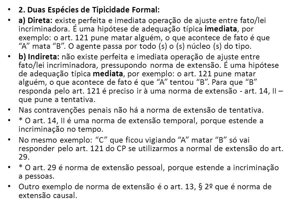 2. Duas Espécies de Tipicidade Formal: