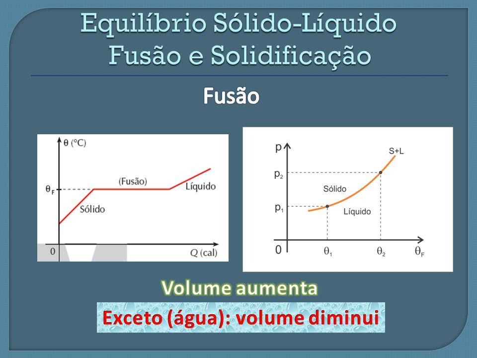 Equilíbrio Sólido-Líquido Fusão e Solidificação
