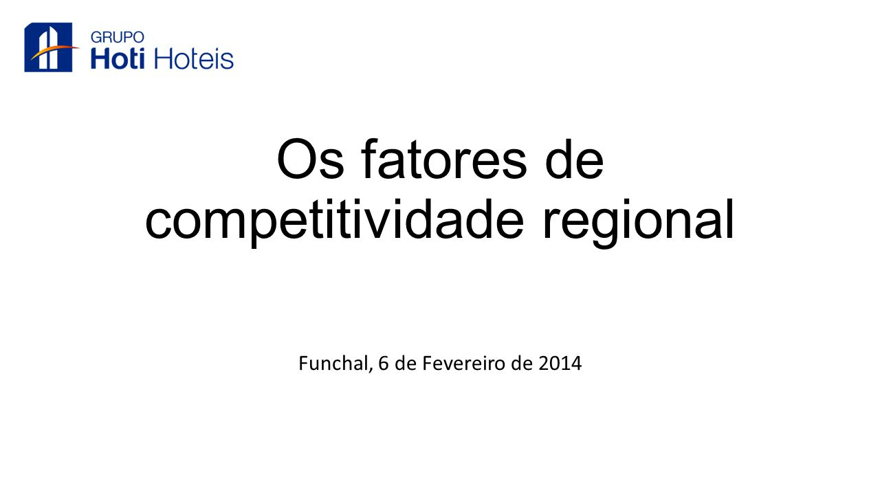 Os fatores de competitividade regional
