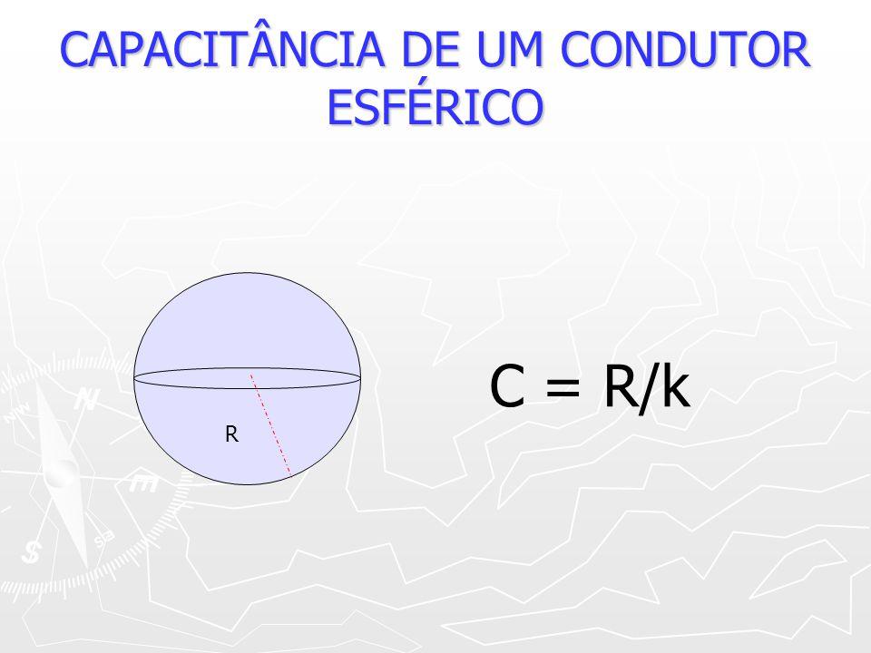 CAPACITÂNCIA DE UM CONDUTOR ESFÉRICO
