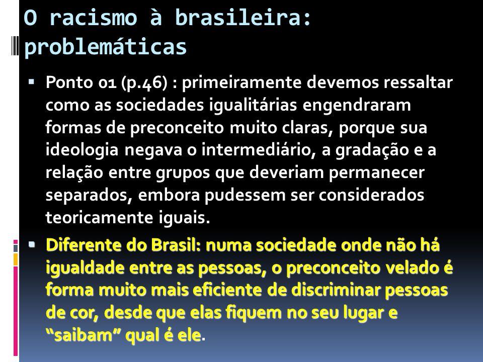 O racismo à brasileira: problemáticas