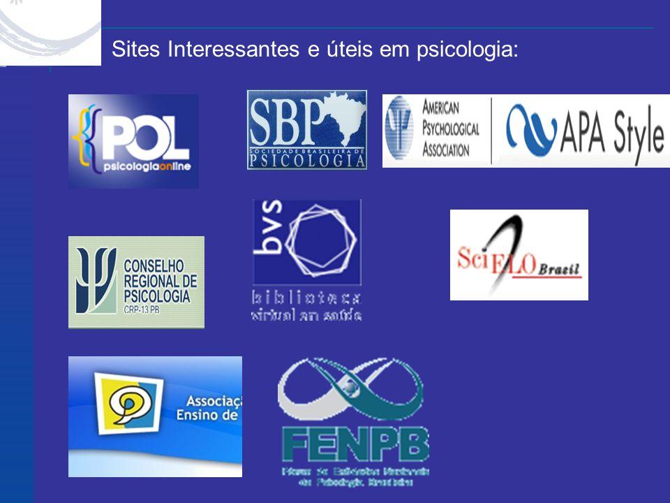 X X Sites Interessantes e úteis em psicologia: Site Feedback Home |