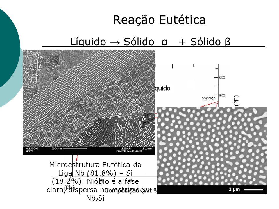 Líquido → Sólido α + Sólido β