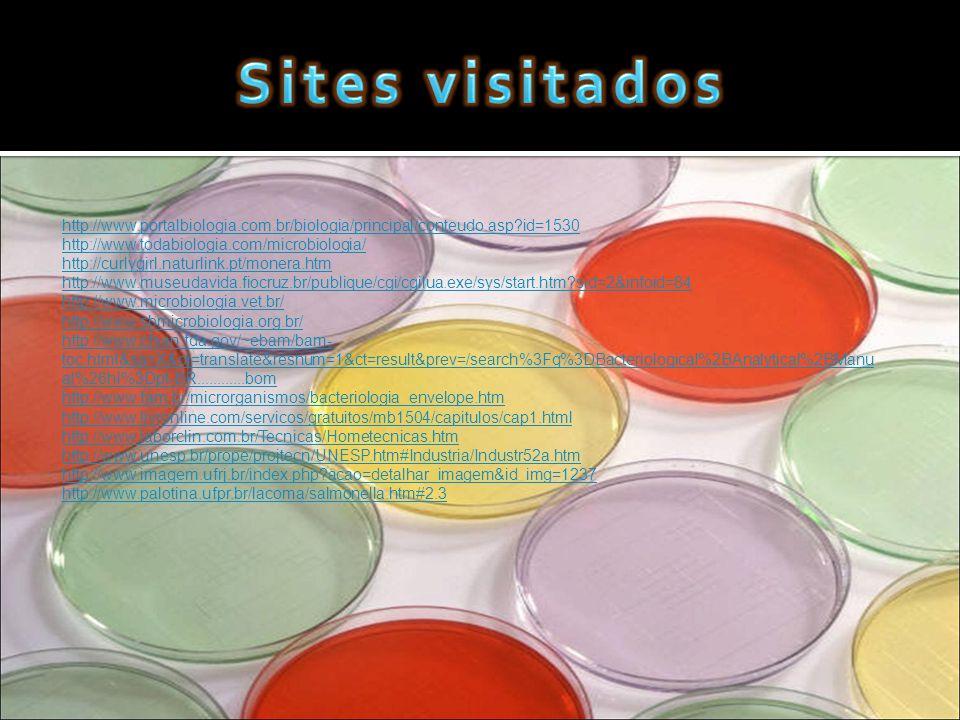 Sites visitados http://www.portalbiologia.com.br/biologia/principal/conteudo.asp id=1530. http://www.todabiologia.com/microbiologia/