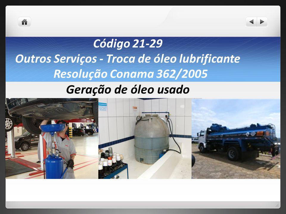 Outros Serviços - Troca de óleo lubrificante