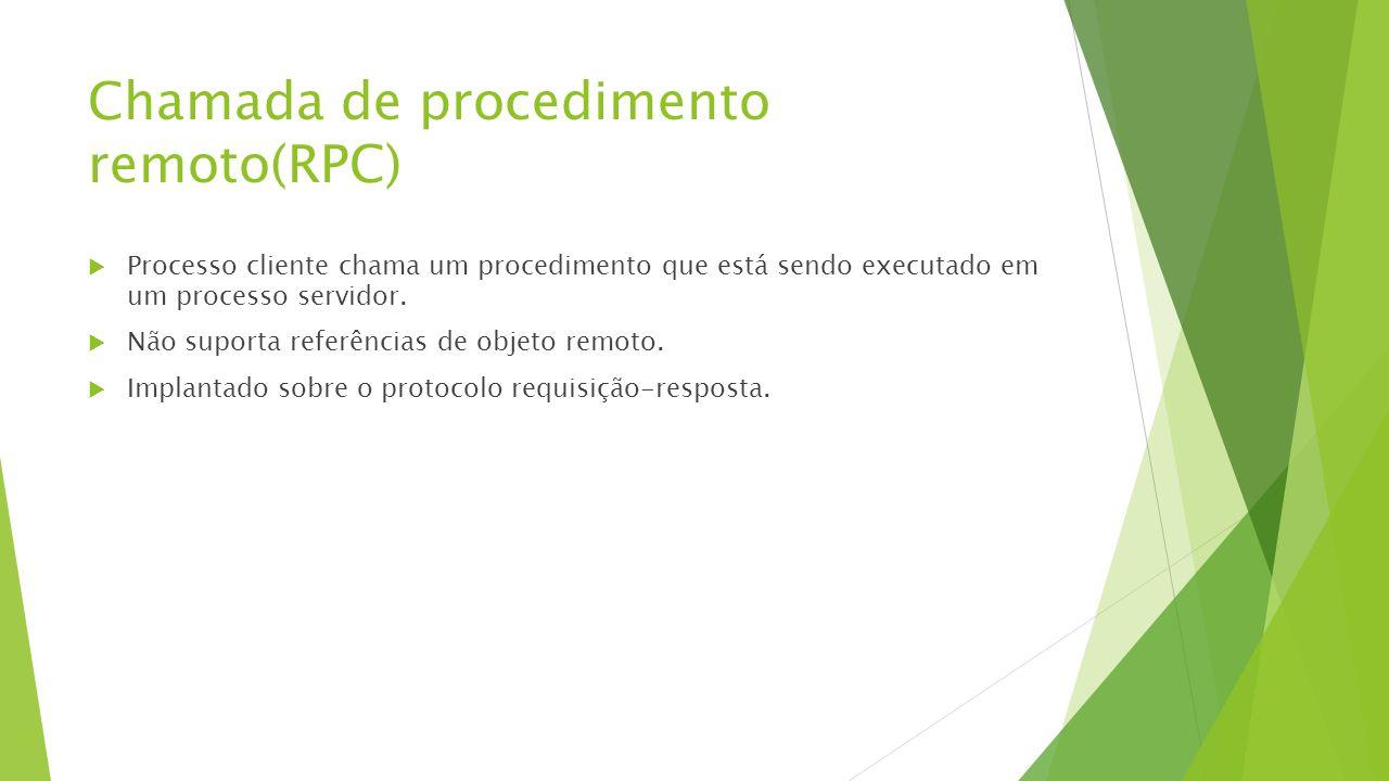 Chamada de procedimento remoto(RPC)