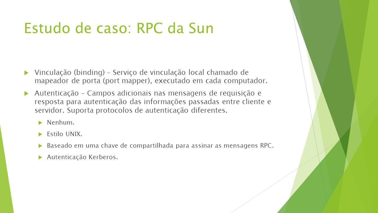 Estudo de caso: RPC da Sun