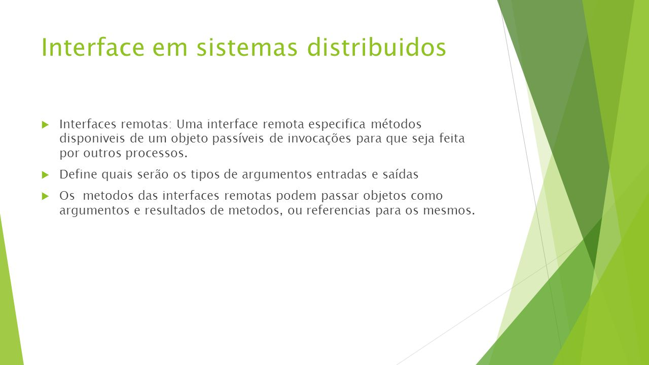 Interface em sistemas distribuidos