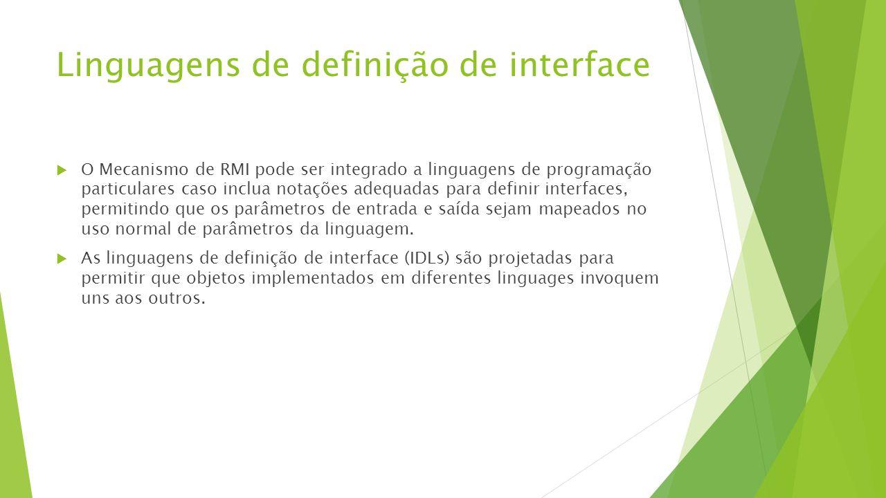 Linguagens de definição de interface