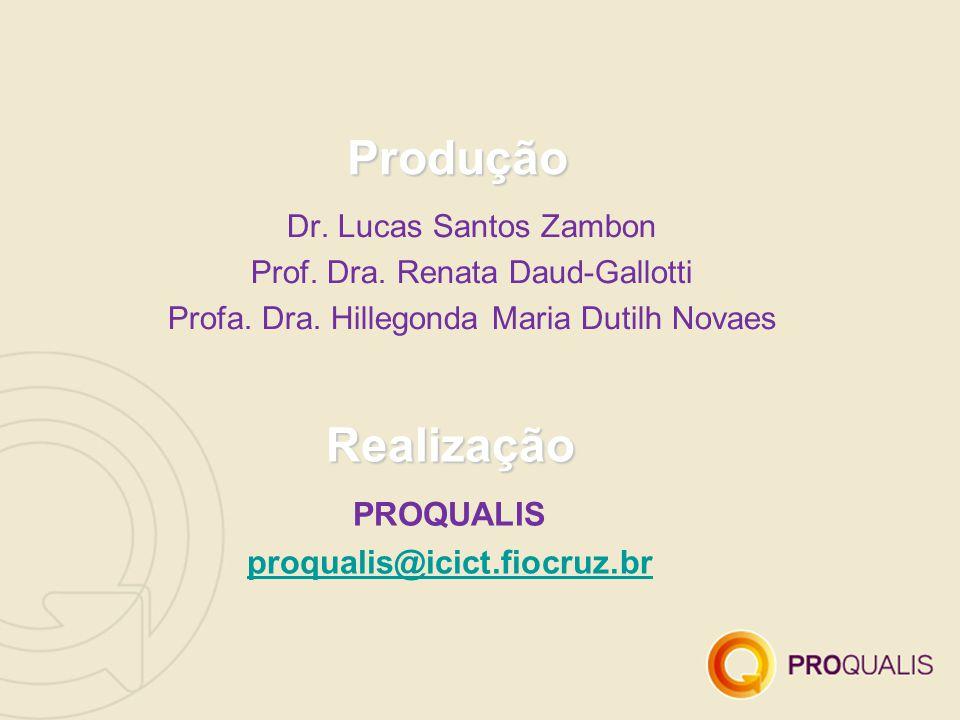 Produção Realização PROQUALIS proqualis@icict.fiocruz.br