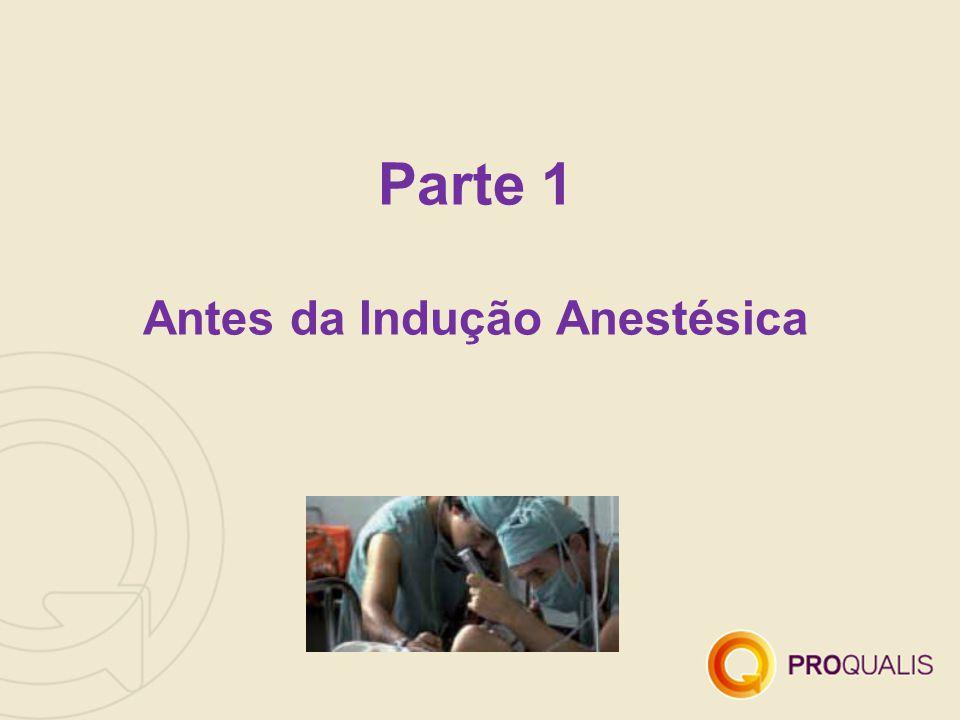 Parte 1 Antes da Indução Anestésica