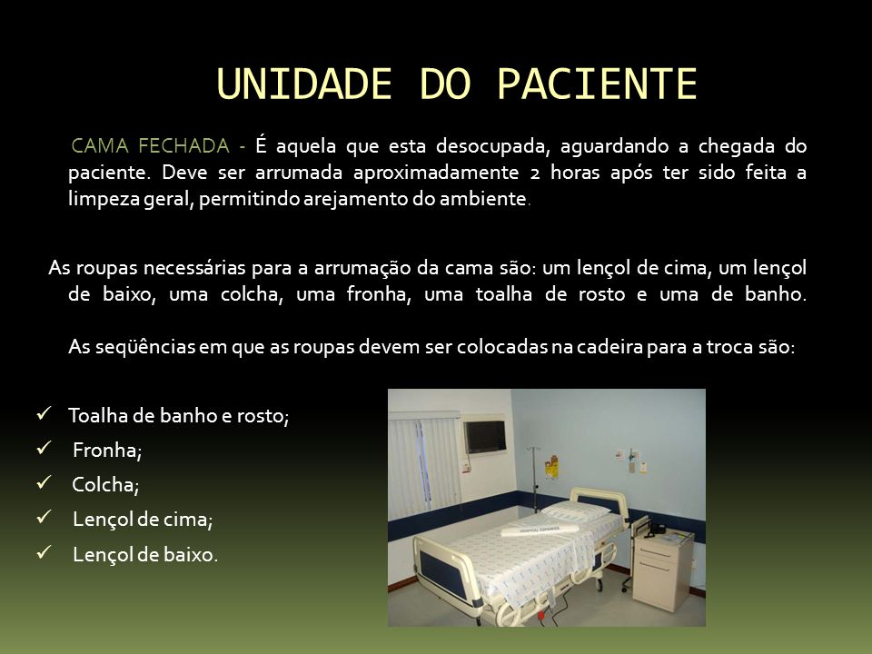 UNIDADE DO PACIENTE