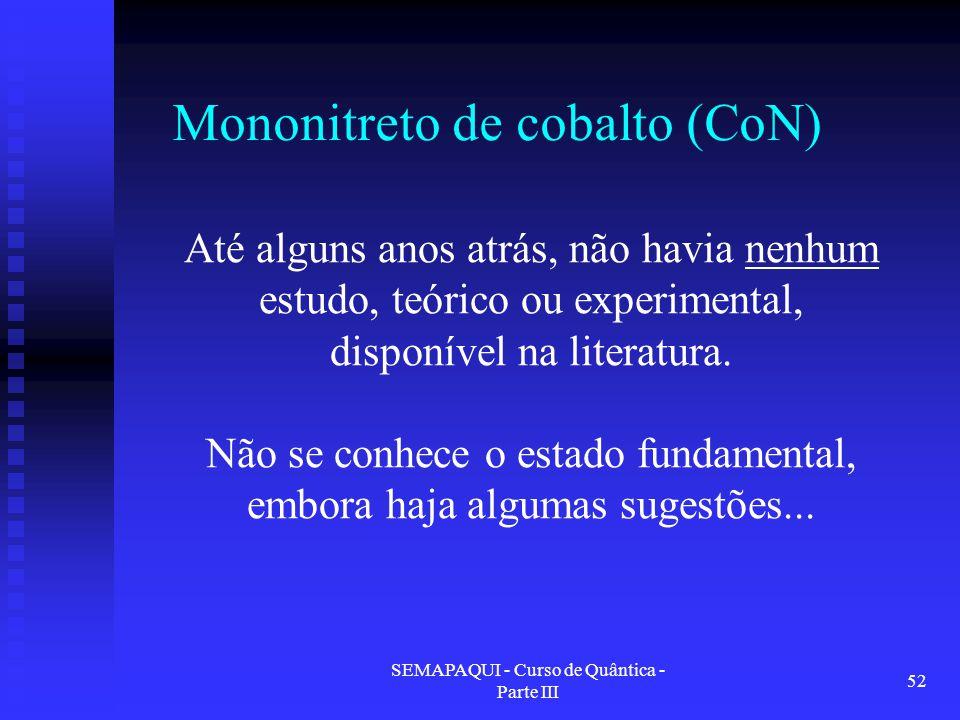Mononitreto de cobalto (CoN)