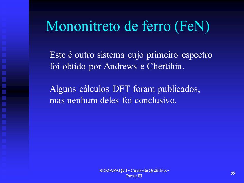 Mononitreto de ferro (FeN)