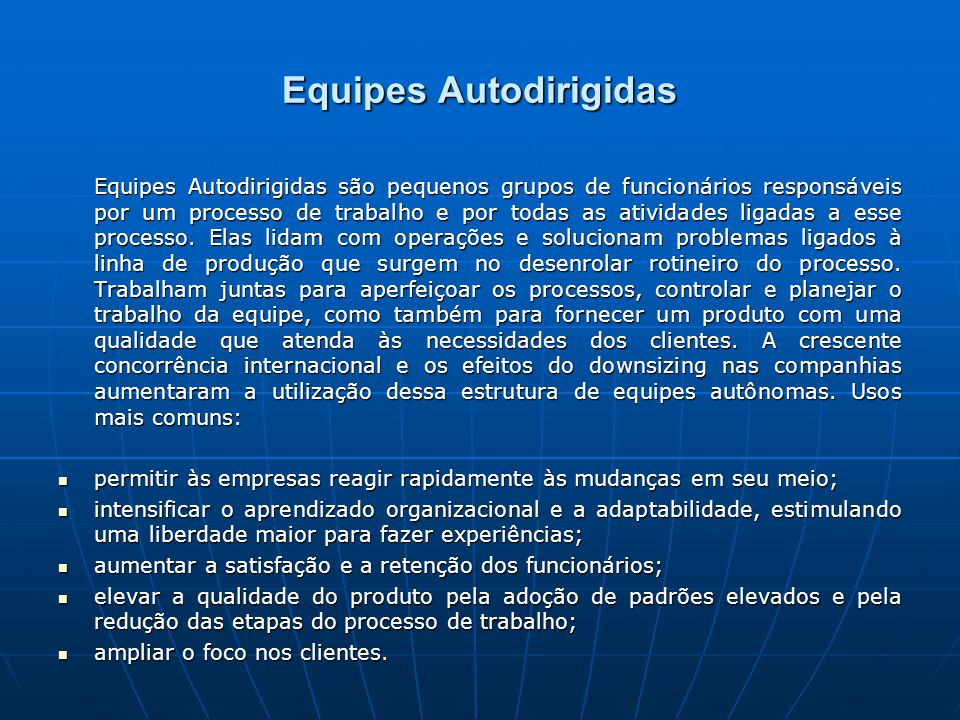 Equipes Autodirigidas
