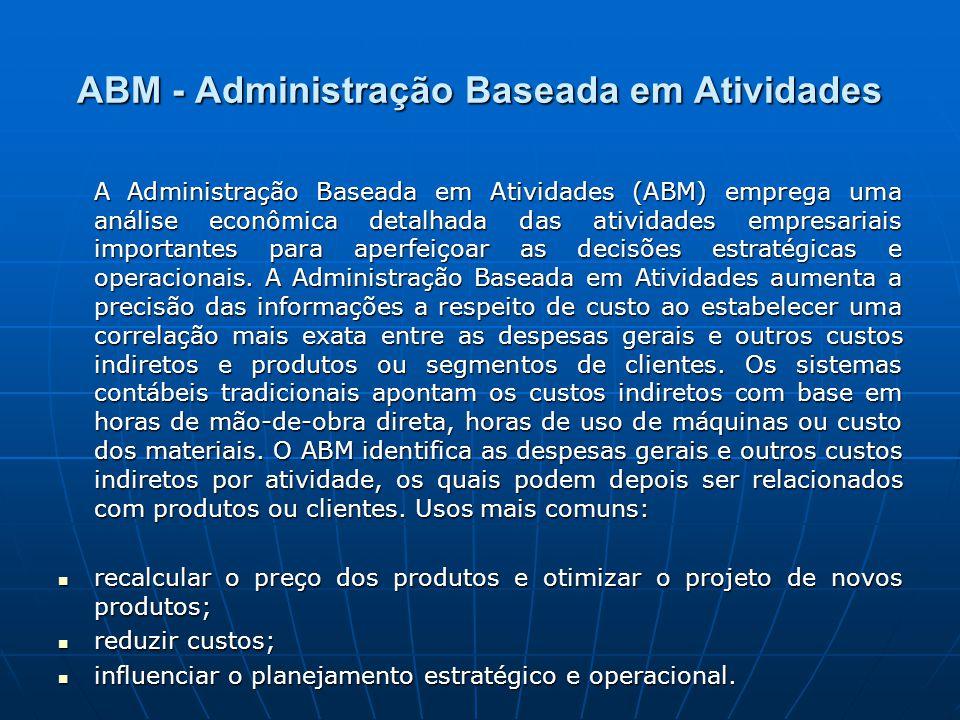 ABM - Administração Baseada em Atividades