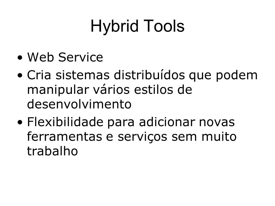 Hybrid Tools Web Service