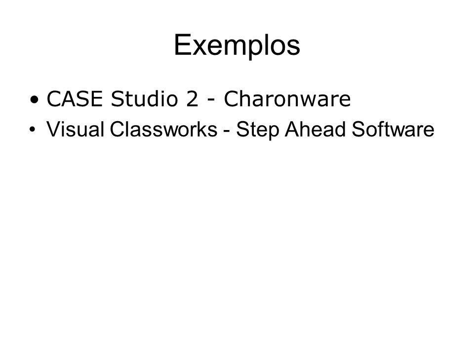 Exemplos CASE Studio 2 - Charonware