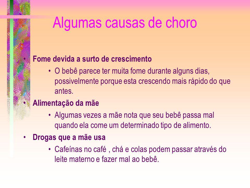 Algumas causas de choro