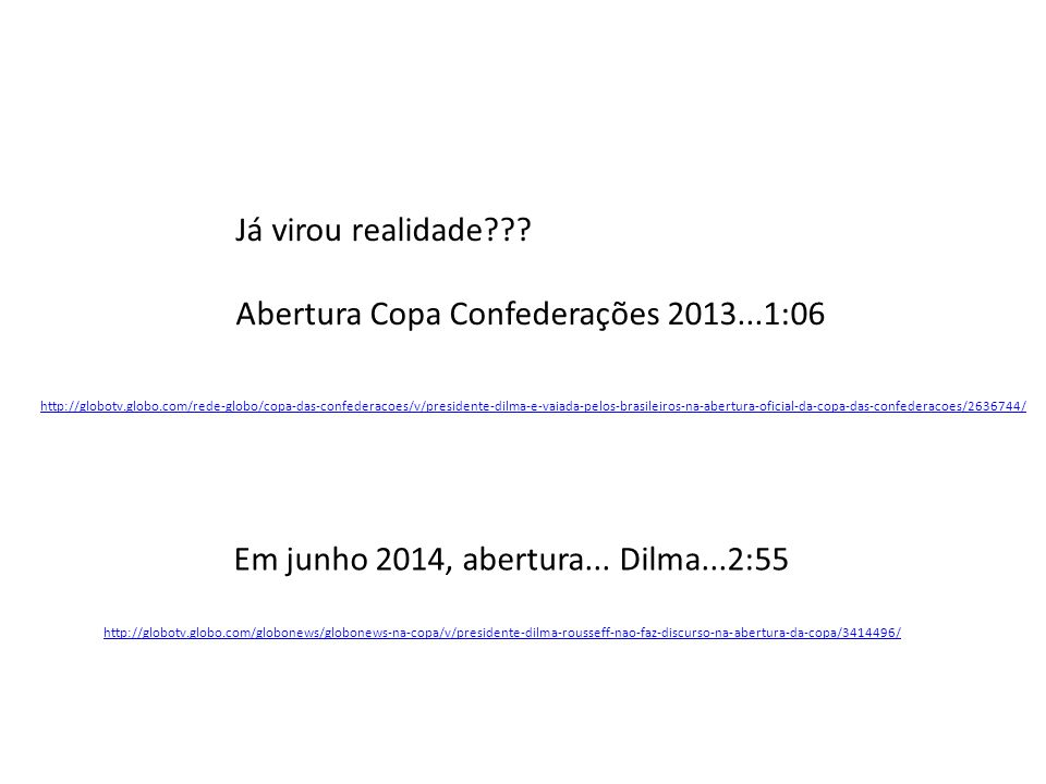 Abertura Copa Confederações 2013...1:06