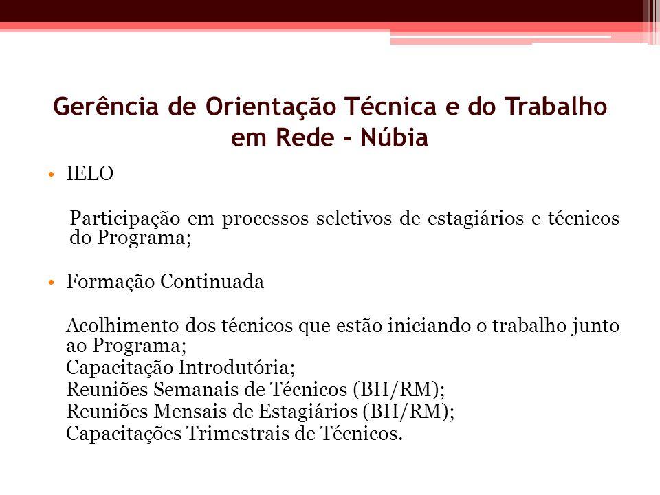 Gerência de Orientação Técnica e do Trabalho em Rede - Núbia