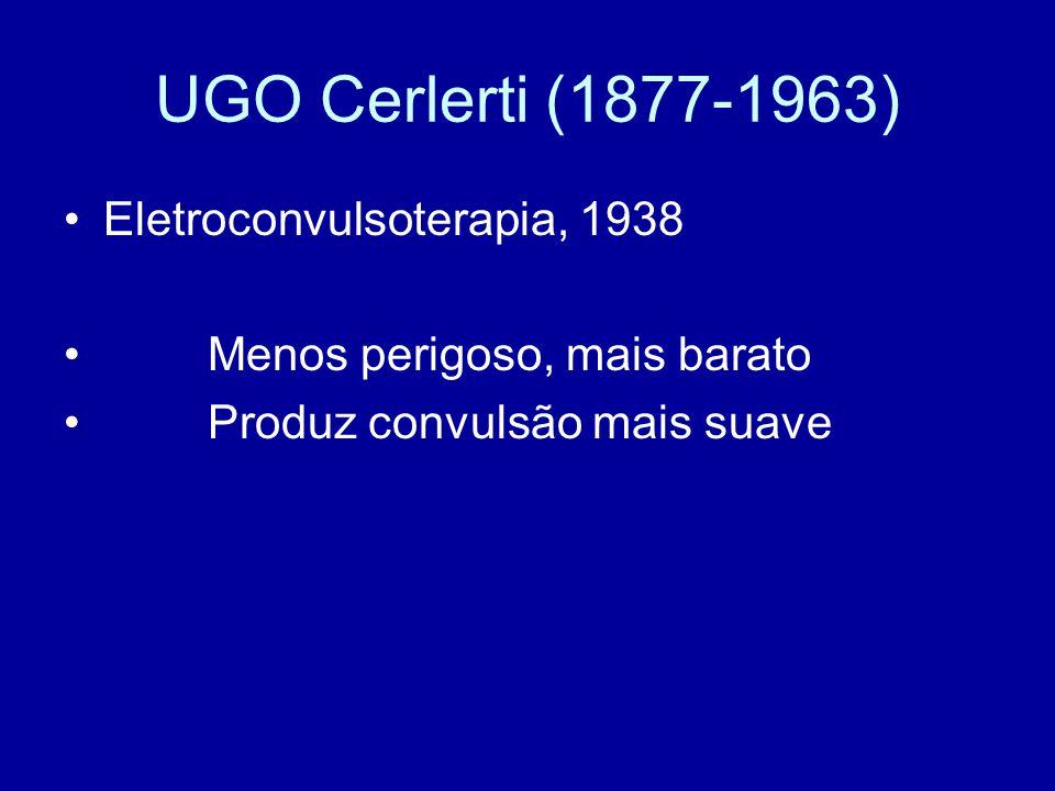 UGO Cerlerti (1877-1963) Eletroconvulsoterapia, 1938