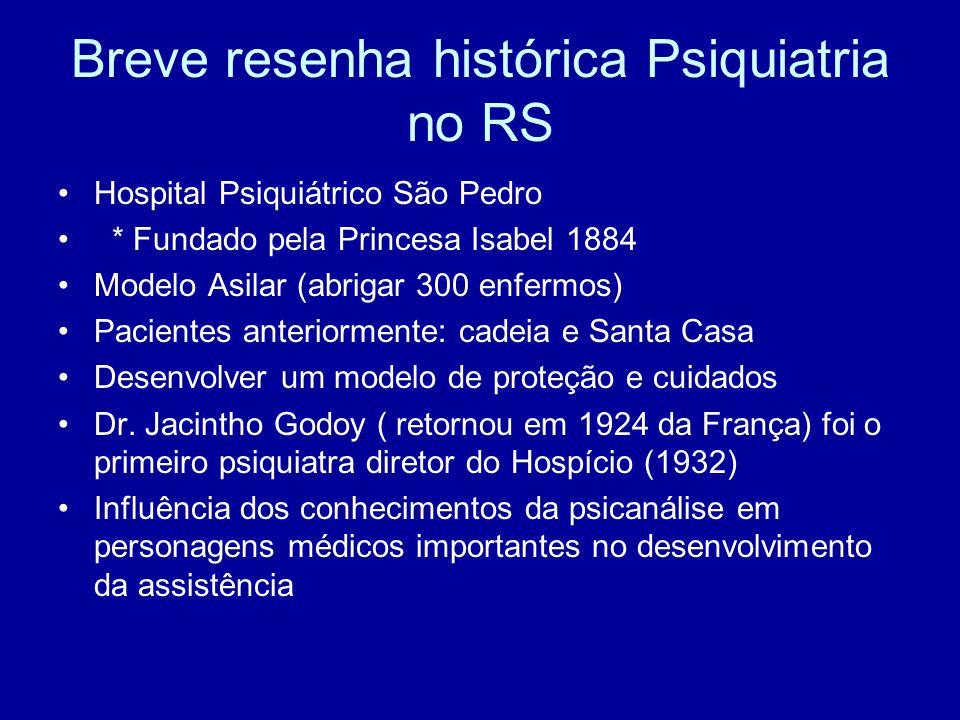 Breve resenha histórica Psiquiatria no RS