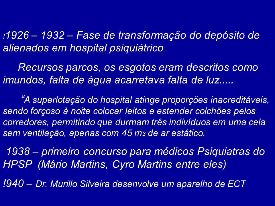 !940 – Dr. Murillo Silveira desenvolve um aparelho de ECT