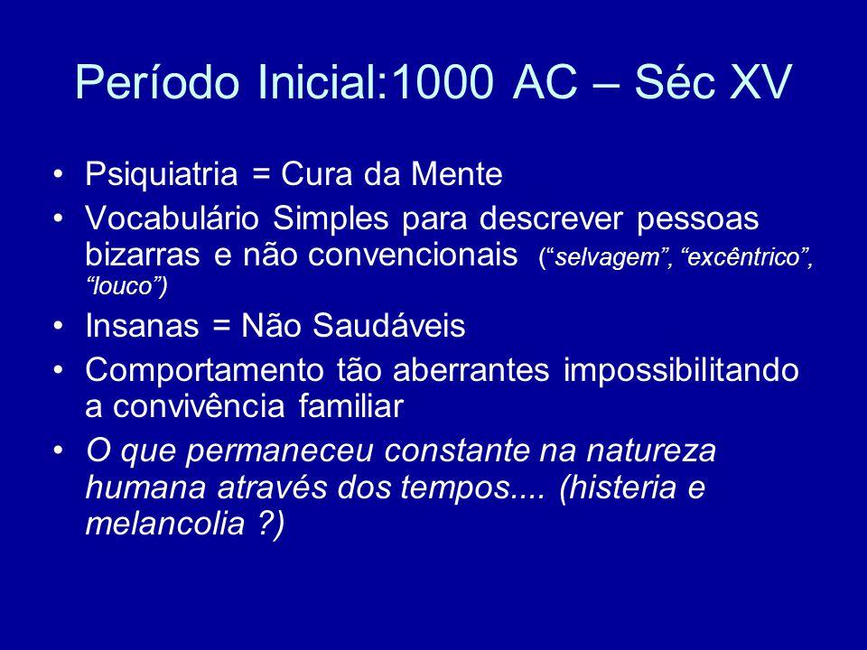 Período Inicial:1000 AC – Séc XV