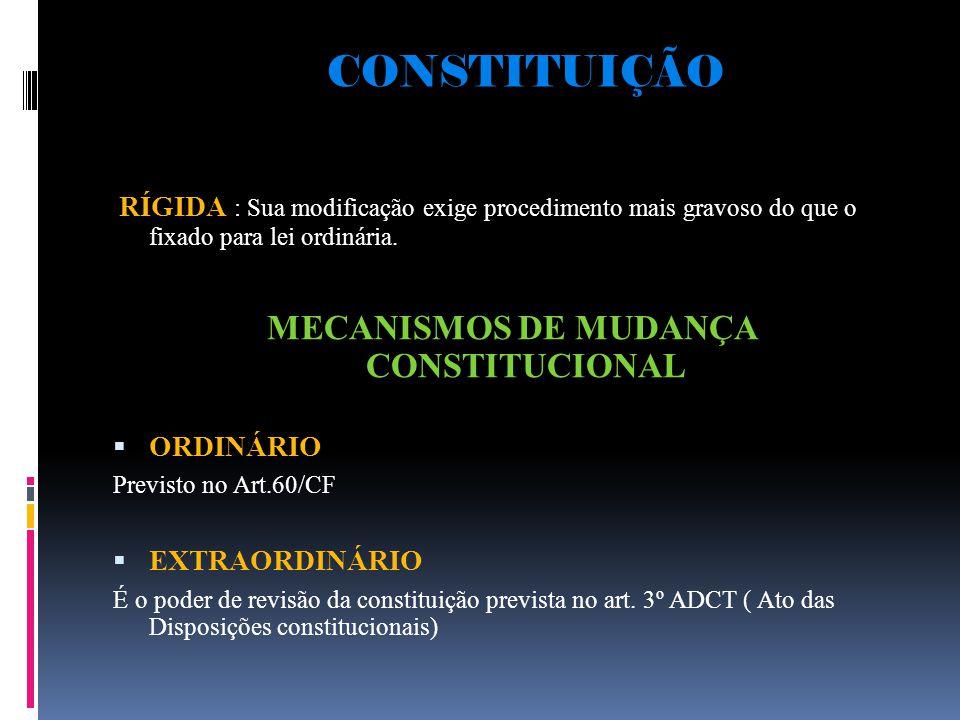 MECANISMOS DE MUDANÇA CONSTITUCIONAL