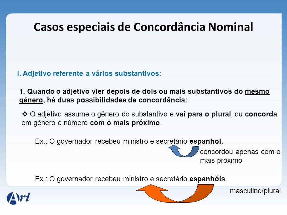 Casos especiais de Concordância Nominal