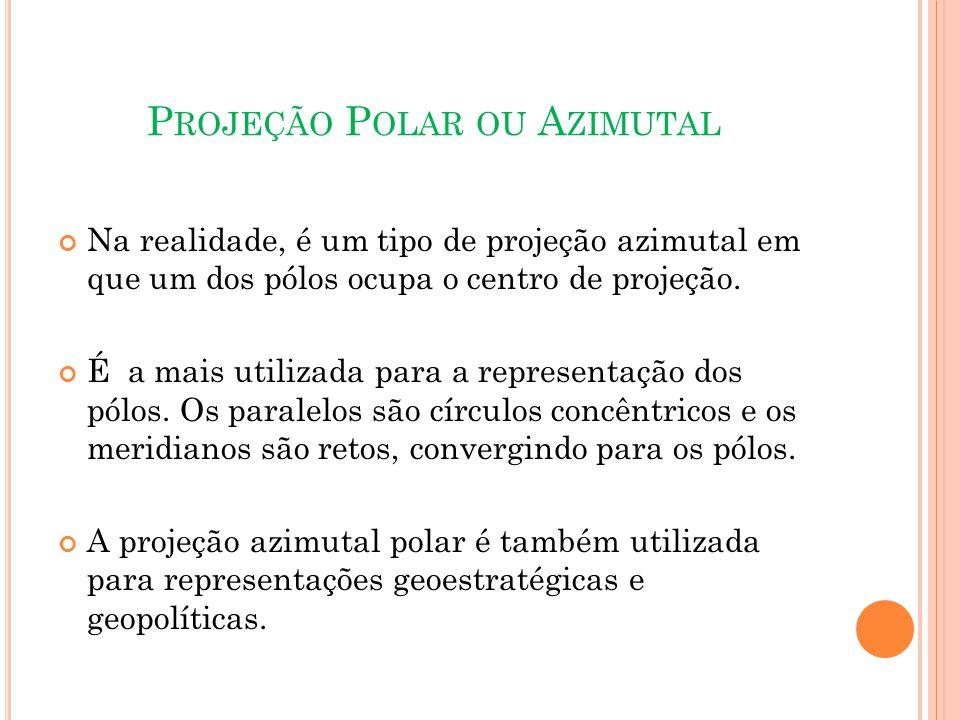 Projeção Polar ou Azimutal