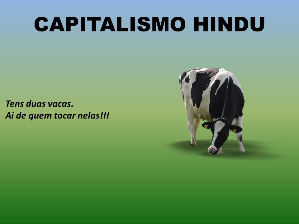 CAPITALISMO HINDU Tens duas vacas. Ai de quem tocar nelas!!!