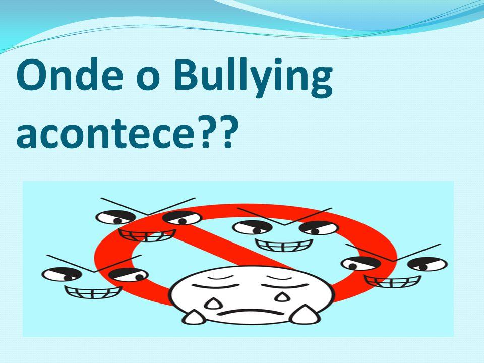 Onde o Bullying acontece