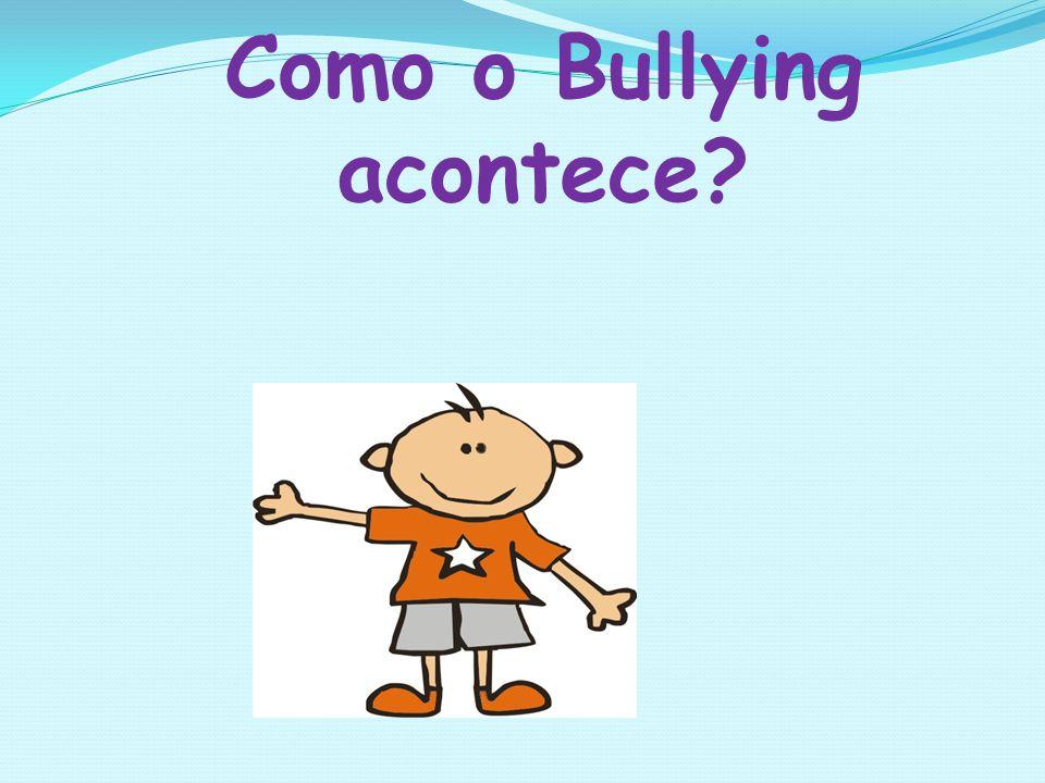 Como o Bullying acontece