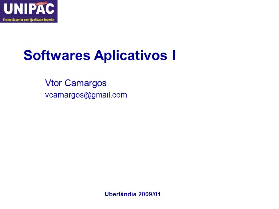 Softwares Aplicativos I