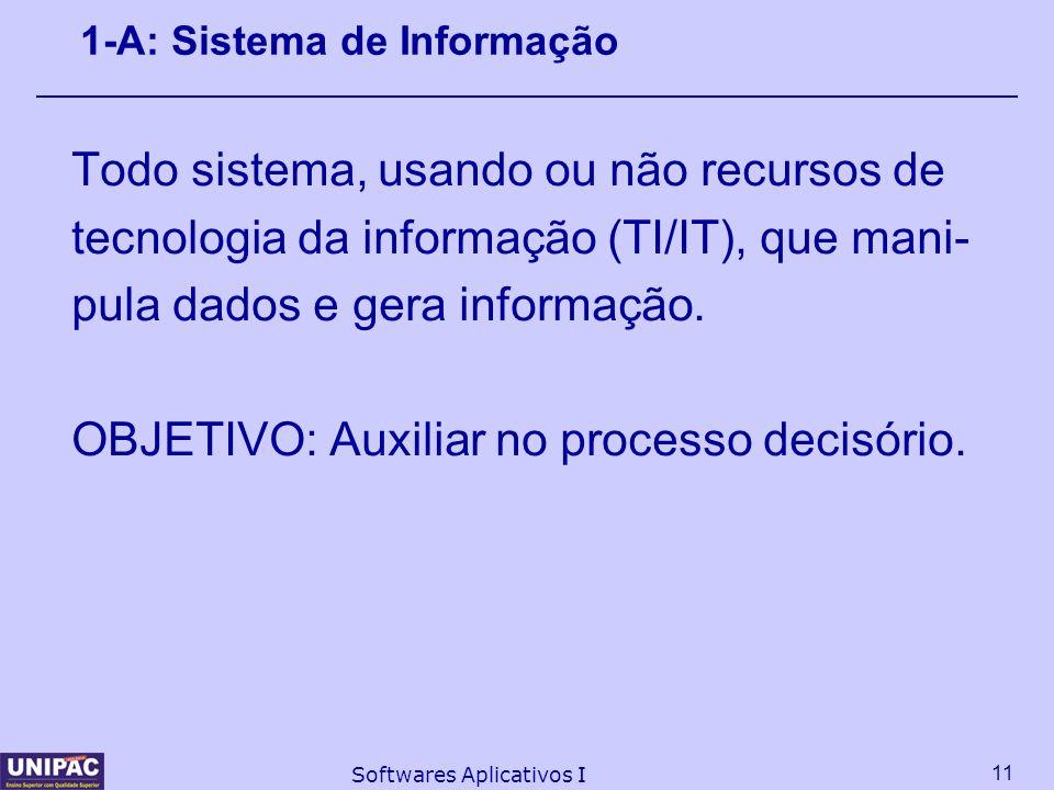 1-A: Sistema de Informação