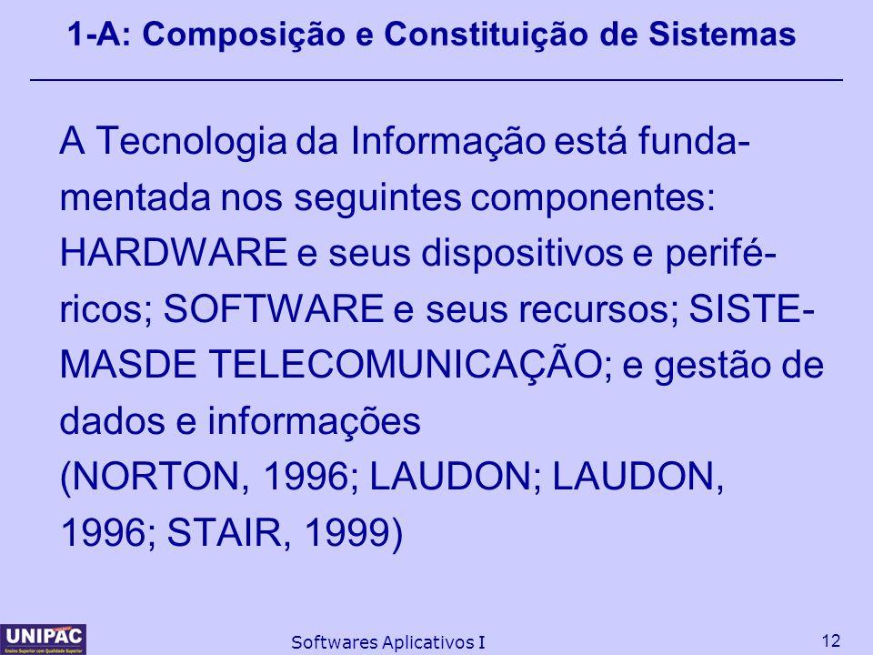 1-A: Composição e Constituição de Sistemas