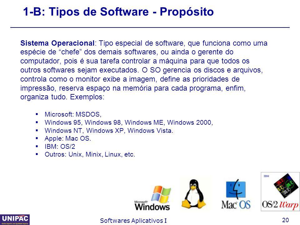 1-B: Tipos de Software - Propósito