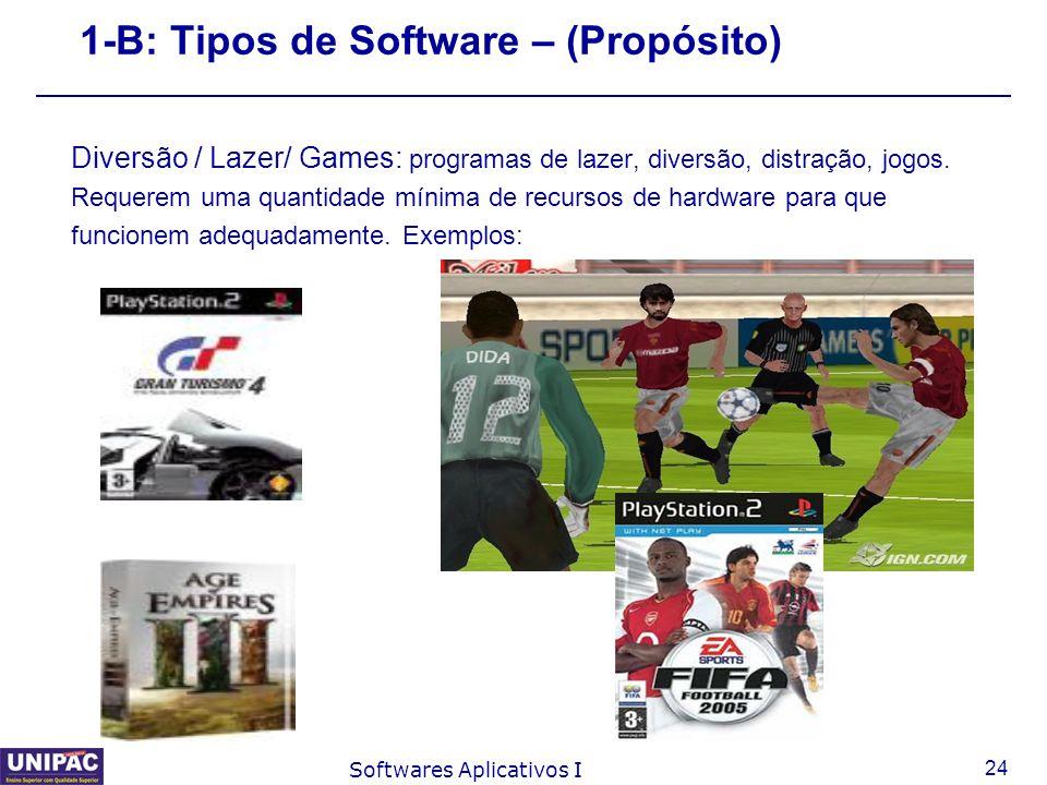 1-B: Tipos de Software – (Propósito)
