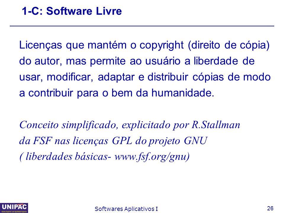 Licenças que mantém o copyright (direito de cópia)