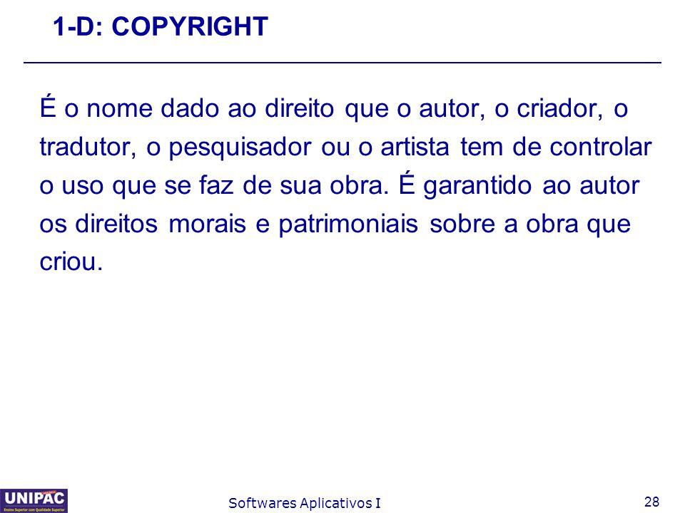 É o nome dado ao direito que o autor, o criador, o