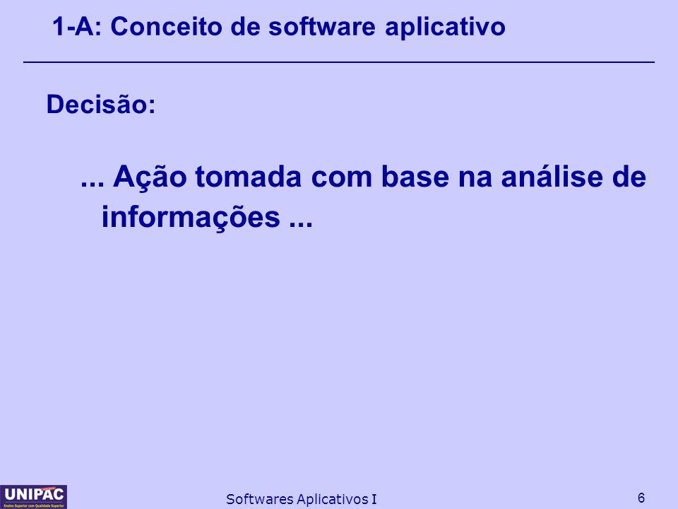 1-A: Conceito de software aplicativo
