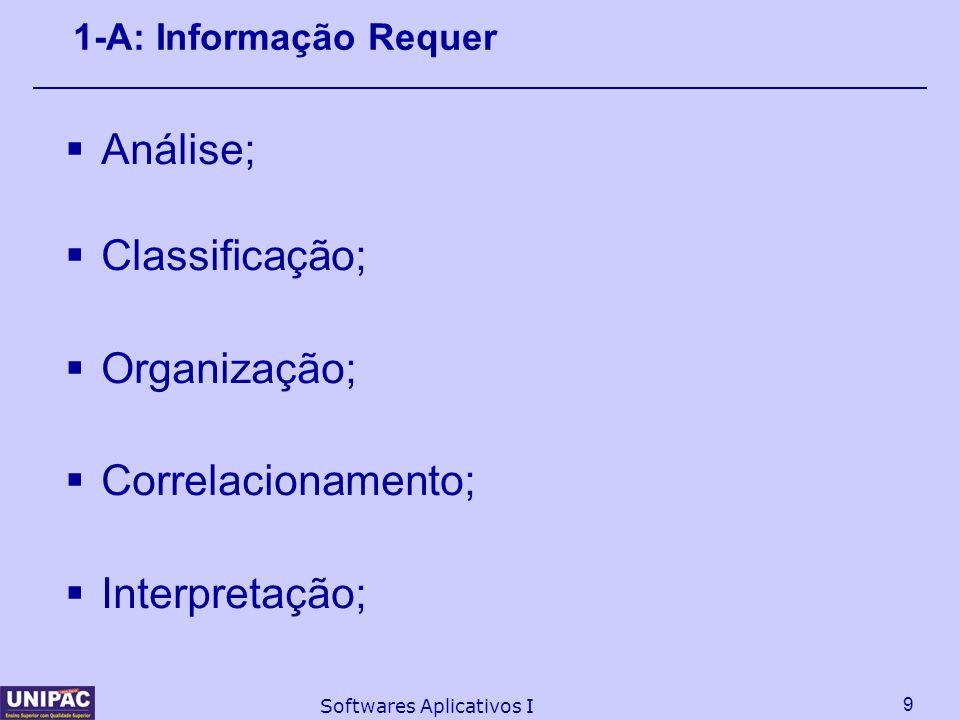 Análise; Classificação; Organização; Correlacionamento; Interpretação;