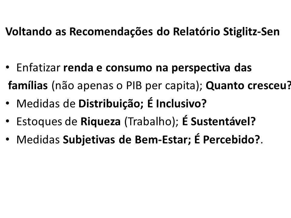 Voltando as Recomendações do Relatório Stiglitz-Sen