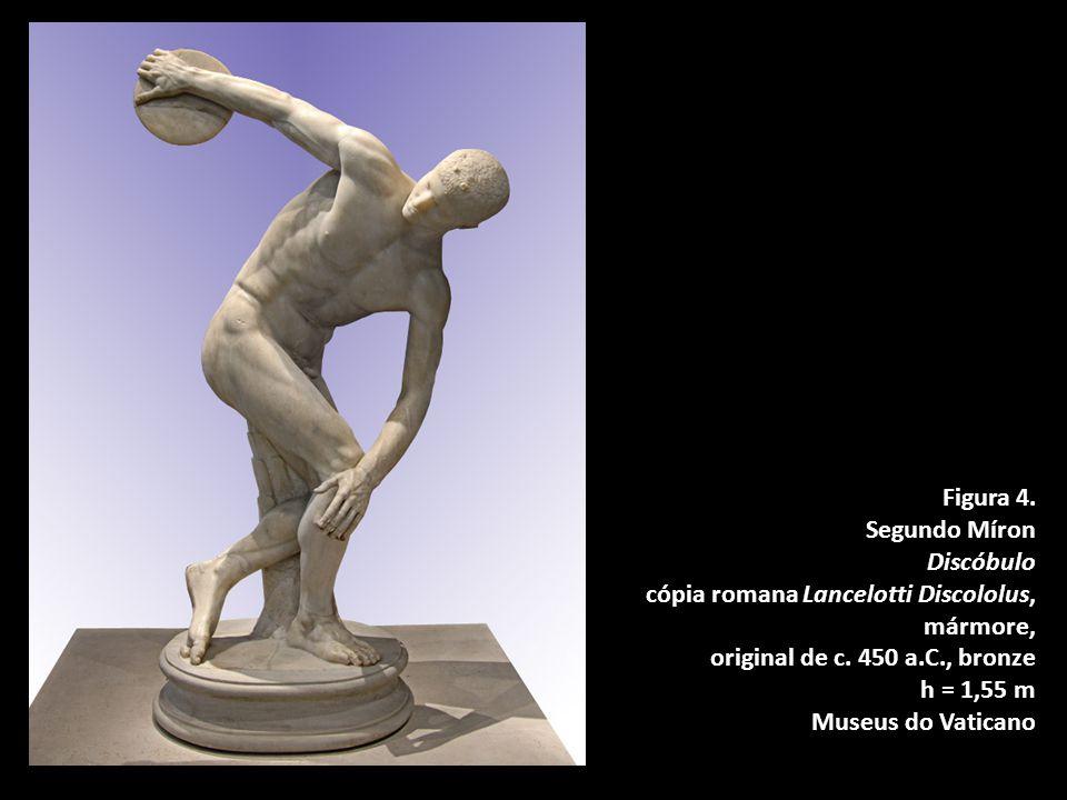 Figura 4. Segundo Míron. Discóbulo. cópia romana Lancelotti Discololus, mármore, original de c. 450 a.C., bronze.