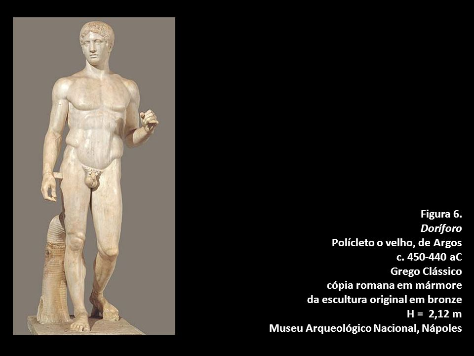 da escultura original em bronze H = 2,12 m
