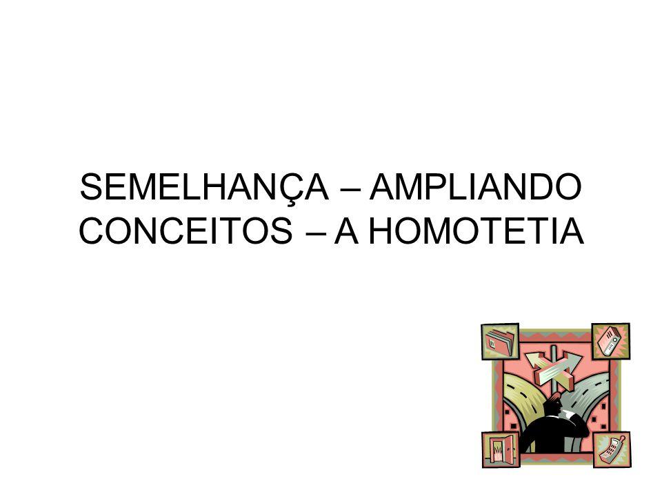 SEMELHANÇA – AMPLIANDO CONCEITOS – A HOMOTETIA